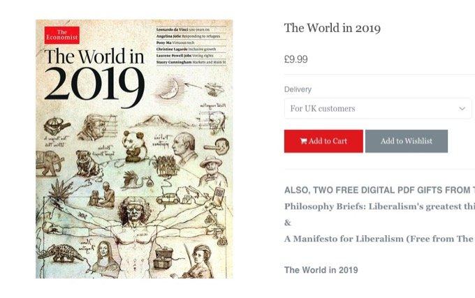 『エコノミスト2019』表紙に描かれた3つの経済予言、専門家が解説! PayPay、ロスチャイルド、NWO、第三次世界大戦…!!の画像1